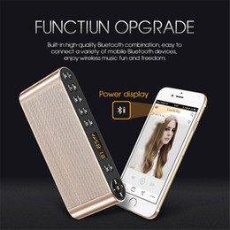 Discount q8 speaker Q8 Bluetooth Speaker Portable Wireless Handsfree Pocket Audio Speaker Subwoofer HiFi Led Display Speaker with Mic