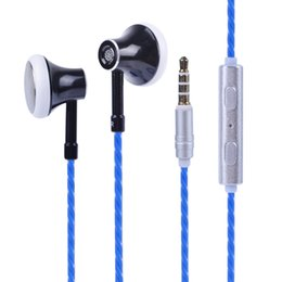 tablet earbuds 2019 - Hifi Standard 3.5mm Aux Port In-ear Super Bass Wired Earphone Digital Audio Earbuds With Mic Headset Stereo For Phone