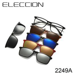 67542c13a ELECION 2018 Moda Gafas Óculos de Prescrição Óptica para Mulheres Homens  Eyeglasse Quadro E Óculos de Sol Ímã de Harmonização 5 Clips
