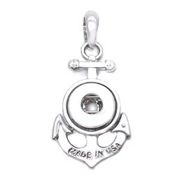 $enCountryForm.capitalKeyWord UK - Interchangeable Vintage Flower Anchor 244 Metal Pendant Fit 12mm Snap Button Charm Necklaces Jewelry For Women Gift