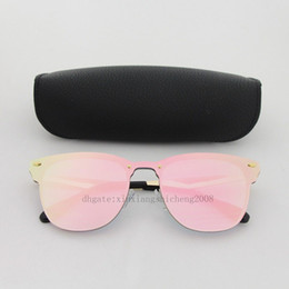 Mirrored light boxes online shopping - Top Quality New Fashion Sunglasses For Man Woman Eyewear Designer Brand Sun Glasses Gold Frame Light Pink Colorful Lens with Box
