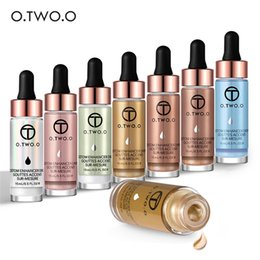 Face Glow Cream Australia - O.TWO.O Highlighter Makeup Highlighter Cream Concealer Shimmer Face Glow Ultra-concentrated Illuminating Bronzer Drops Face Highlighter