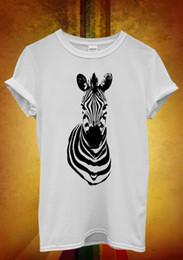 Zebra Animal Print Funny Hipster Men Women Unisex T Shirt Tank Top Vest  1054 2018 Hot Summer Casual Printing Men s Cool cdfae7c8f