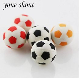 Fruit Lipstick Australia - 2PCS  Lovely Realistic Football Shape Eraser Removable Puzzle Prizes Student Gifts School Supplies