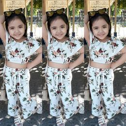 $enCountryForm.capitalKeyWord Canada - girls kids Two Piece suit Baby girls kids clothes Explosion models Girls Korean version of the leisure speaker flower suit 2-7 years