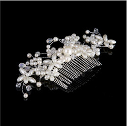 Hair For Weddings Hairstyles NZ - European Style Flower Hair Combs Hairstyles Crystal Pearl Bridal Headpieces for Women Wedding Hair Accessories Diademas Ninas Wholesale Hot