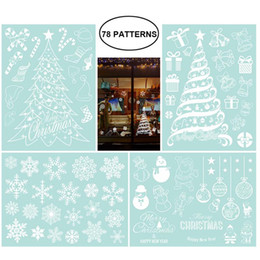 $enCountryForm.capitalKeyWord Canada - 4 Sheets Christmas Trees Snowflakes Decoration Removable PVC Wall Window Door Mural Decal Sticker for House Restaurant Shop