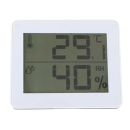 Office Home Weather Station Indoor Thermometer Hygrometer Desk Digital Meteo Station Temperature Humidity Displayer on Sale
