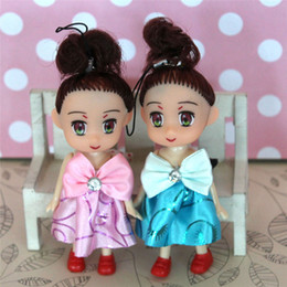 Discount phones dolls keys - New Mini Plush Dolls Key Chain Cute Kids Keychain Soft Stuffed Toys Keyring Girls Women Bag Phone Party Gift Beauty Deco