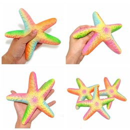0adfee19a4 Jumbo Starfish Squishy Slow Rising Squeezing Toys Cartoon Rainbow Starfish  Toy Cute Soft Kids Toys Party Favor Stress Relief GGA350 50pcs