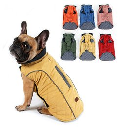 China High Quality Dog Clothes Quilted Dog Coat Water Repellent Winter Dog Pet Jacket Vest Retro Cozy Warm Pet Outfit Clothes Big Dogs Hotsale suppliers