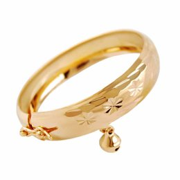 Discount gold bracelets child - Kids Children Bangles Hot Design Unique Style gift Bracelets & Bangles Chain gold color Very Personality For Party