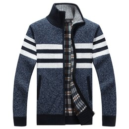 2018 New Cardigan Mens Cardigans Knitwear Warm Fleece Hoodie sweatshirt  Casual Hoodies For Autumn Winter Zipper Sweaters 6d6654676