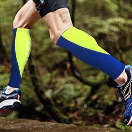 $enCountryForm.capitalKeyWord NZ - Outdoor Sports Compression Socks Calf Sleeves Breathable Leg Calf Sleeve For Runners Unisex Men Knee Socks Protective Gear 4 Colors H729F