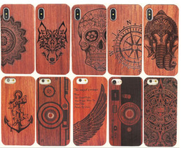 China Genuine Wood Case For Iphone XS Max XR 6 7 8 Plus Hard Cover Carving Wooden Phone Shell For Iphone Bamboo Housing Luxury S9 Retro Protector suppliers