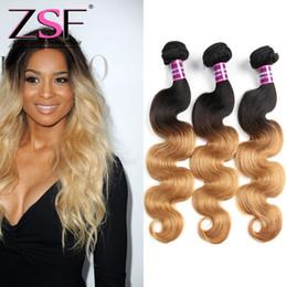 $enCountryForm.capitalKeyWord NZ - ZSF 8A Grade Human Hair Extensions Ombre 1b 27 Malaysian Human Hair 3 Bundles Body Wave Hair Weave