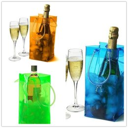 cool sports bags wholesale Canada - Durable Transparent PVC Wine Ice Cooler Rapid Beer Cooler Ice Bag Portable Outdoor Sports Jelly Frozen Bags Champagne Wine Ice Bag & Handle