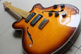 Electric Guitar 335 NZ - Wholesale New Fenderes 335 Jazz Electric Guitar Semi Hollow Body In Brown Sunburst 120818