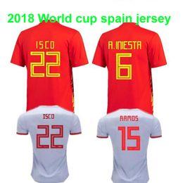 73a679d1e Thailand quality camisetas de futbol ASENSIO MORATA ESPANA Spain Red soccer  jerseys world cup 2018 RAMOS INIESTA football shirt wholesale
