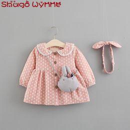 $enCountryForm.capitalKeyWord Canada - Autumn Baby Girls Outerwear Coat Peter pan Collar Cute Rabbit Print Princess Jacket Kids Trench Infant Cardigans + Bow Headband