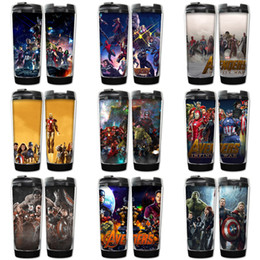 avengers box 2019 - Marvel Avengers Infinity War Cups 9 Designs Avengers Superhero Thanos Stainless Steel Cups with retail box Kids water bo