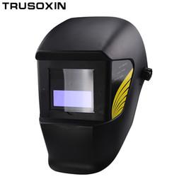 Chinese  Auto Darkening Shading Welding Mask Helmet Welder Cap for Welder Operate the TIG MIG MMA ZX7 Welding Machine and Plasma Cutter manufacturers