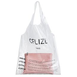 Fashion Women Plastic Bag Canada - Jelly Transparent Plastic Handbags Women Casual Tote Bag Two Piece Bag Handbag with Small Purse Fashion PVC Clear Summer Bags