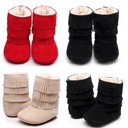 $enCountryForm.capitalKeyWord NZ - Baby Girl Kids Winter Warm Snow Boots Fleece Knitted BootiesToddler Infantil Anti-Slip Mocassins Crocheted Boots Shoes