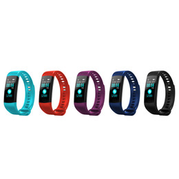 Chinese  Y5 Smart Wristband Electronics Bracelet Color LCD Watch Activity APP Fitness Tracker Blood Pressure Heart Rate IP67 Waterproof DHL manufacturers