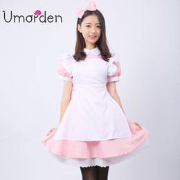 maid cosplay lolita dress 2019 - Pink Women Maid Maids Cosplay Clothing Alice in Wonderland Costume Costumes Fancy Lolita Dress cheap maid cosplay lolita