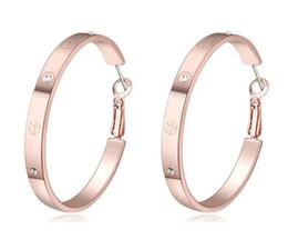 Discount hoop earrings rhinestones - Earrings Jewelry Fashion Women High Quality Austrian Crystal 18K Gold Plated Hoop Earrings Wholesale Drop Shipping Sale