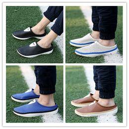 Garden Clogs Canada - 2018 Fashion Men's Garden Clog Shoes Sandals Beach Water Shoes Size:39-44 AK669