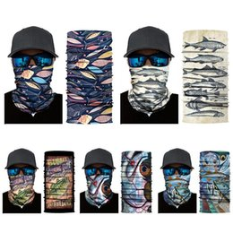 Face Mask Hiking NZ - Breathable Print Outdoor Sports Face Mask Riding Headband Scarf Casual Accessories Headwear Wraps Camping Hiking Scarf