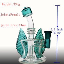 hot bong Australia - Hot Lavernder Leaf bong Recycle Oil Rigs Glass Bongs Real Images Thick Base Perclator Cute Bongs Water Pipes Hookahs Smoking Pipes