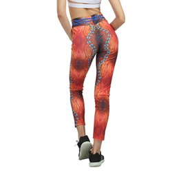 Xl Womens Leggings UK - New Women High Waist Running Tights Gym Fitness Push Leggings Womens Printing Compression Trousers Print Sport Yoga Pants