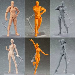 female action figures 2019 - 6 styles SHF Figma Man Female Skin Color Archetype Ferrite Figma Movable Figma pvc Action Figure Model Toys Doll for Col