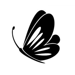 Butterfly Window Art NZ - Butterfly Decal Sticker Racing Art Painting Wall Stickers Vinyl Decor Decals Car White