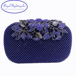 $enCountryForm.capitalKeyWord NZ - New Red Royal Blue Crystal Evening Bags and Clutches with Flowers for Womens Party Wedding Prom Dress