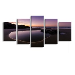 Art Canvas Prints Australia - 5 pieces high-definition print Landscape canvas oil painting poster and wall art living room picture PL5-125
