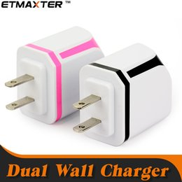 $enCountryForm.capitalKeyWord Australia - ETMAXTER Candy Portable Charger 2.1A Travel Charger Dual USB Port Wall Charging for Samsung S8 Note8 9 iP8 8X
