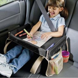 5 Colors Baby Toddlers Car Safety Belt Travel Play Tray Waterproof Folding Table Seat Cover Harness By Pushchair Snack A 654