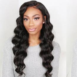 Natural Human Hair Weave Australia - Raw Indian Virgin Hair Body Wave 3 or 4 Bundles Natural Color Peruvian Brazilian Malaysian Body Wave Human Hair Weaves Extensions