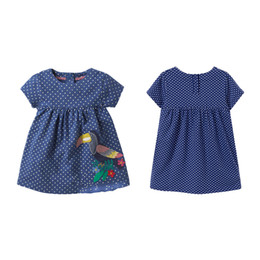 children clothing patterns UK - Cute Baby Girl Clothes GirlDress Ainimal Pattern Dress Kids Clothes For Girls Summer Costume Children Infant Clothing