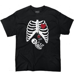 Pregnant baby shirts online shopping - Pregnant Skeleton Baby X Ray Maternity Themed Halloween Gift T Shirt