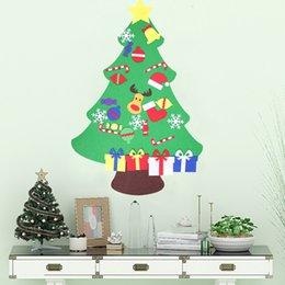 2018 Fashion 6 Pcs Santa Tree Wood Sleigh Pendant Gift Home Door Hanging Decoration New Arrival Christmas New Year Diamond
