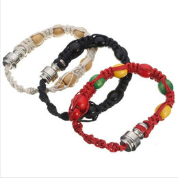 Type smoking Tools online shopping - creative Metal Bracelet Smoking Pipe colors portable beads strap wristband style smoke tabacco pipes tools