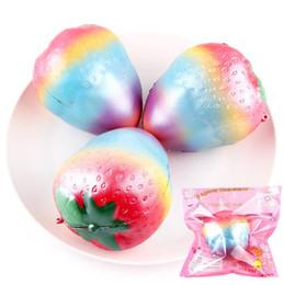 $enCountryForm.capitalKeyWord Canada - 10CM Jumbo Kawaii Rainbow Strawberry Squishy Super Soft Slow Rising Phone Strap Cute Scented Colorful Bread Cake Kid Toy