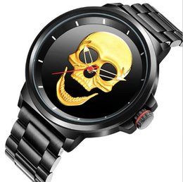 skull pirate watch 2019 - SKONE Unique Pirate Skeleton Skull Quartz Men Watches Luxury Men Sports Watch Waterproof Dropshipping cheap skull pirate