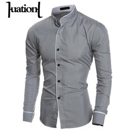 wedding dresses men slim 2019 - Huation Men Shirt Long Sleeve Slim Business Wedding Dress Shirts Mens Brand Clothing Fashion Solid Single Breasted Men&#