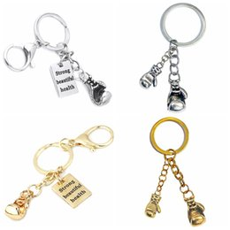 China Boxing Glove Keychain Men Stainless Steel Cross Fit Workout Key Rings Sports Boxer Hip Hop Jewelry Custom Trainer Gift cheap men boxer wholesale suppliers